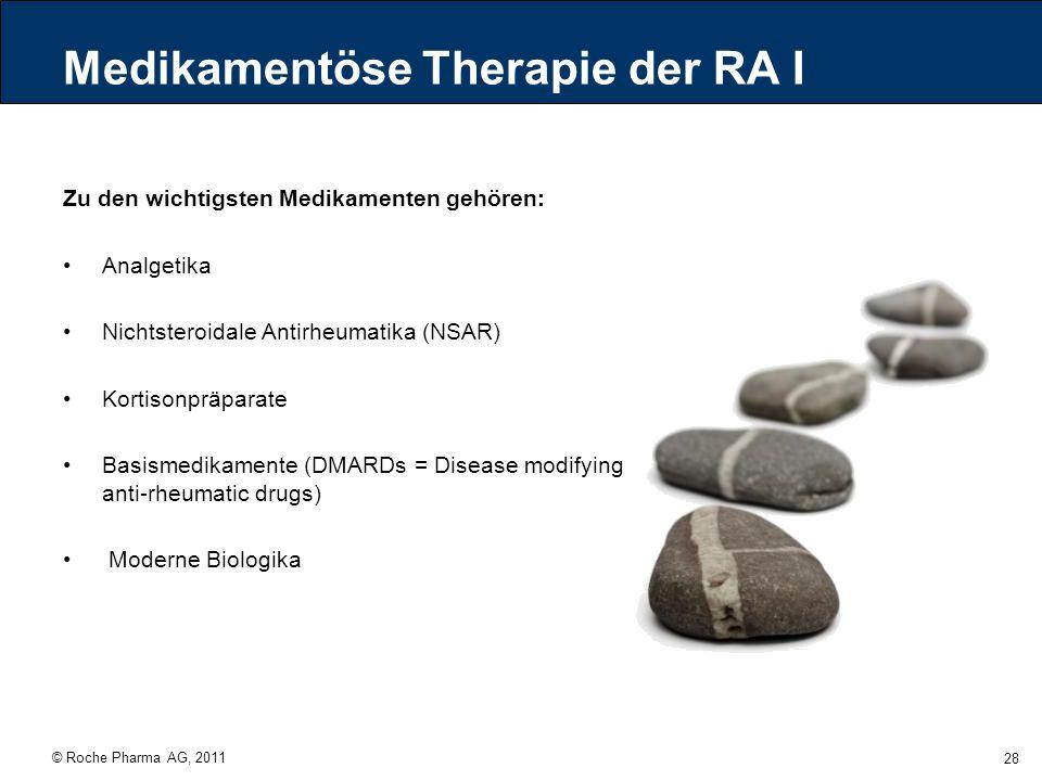 Medikamentöse Therapie der RA I