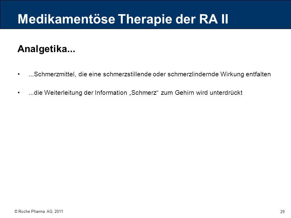 Medikamentöse Therapie der RA II