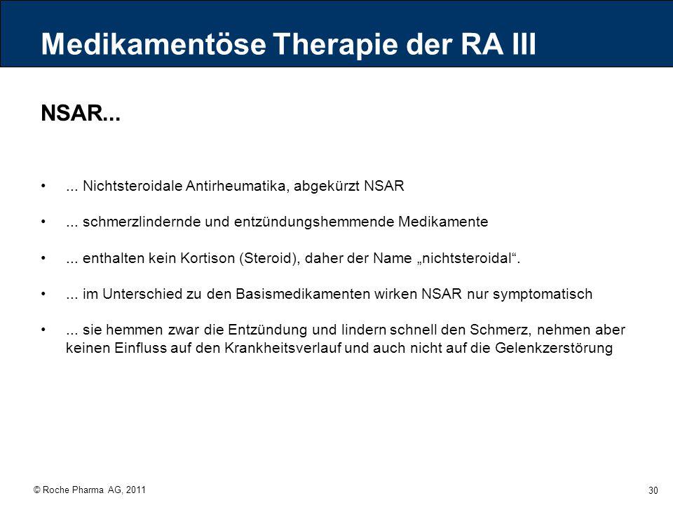 Medikamentöse Therapie der RA III