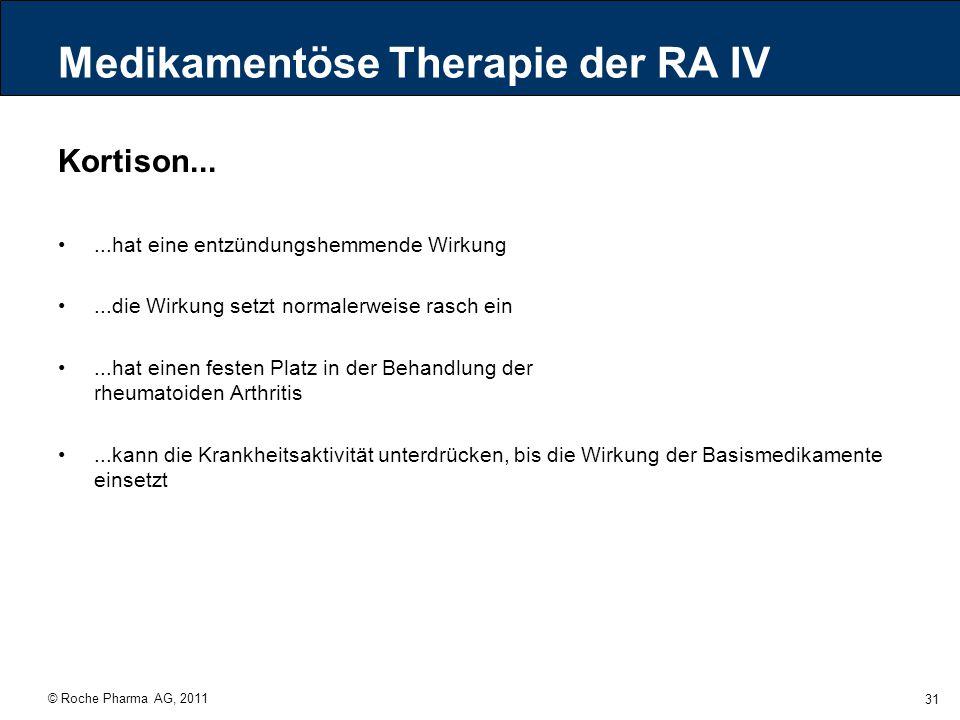 Medikamentöse Therapie der RA IV