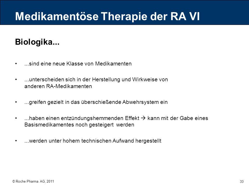 Medikamentöse Therapie der RA VI