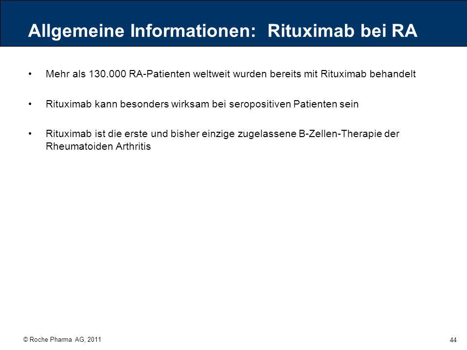 Allgemeine Informationen: Rituximab bei RA