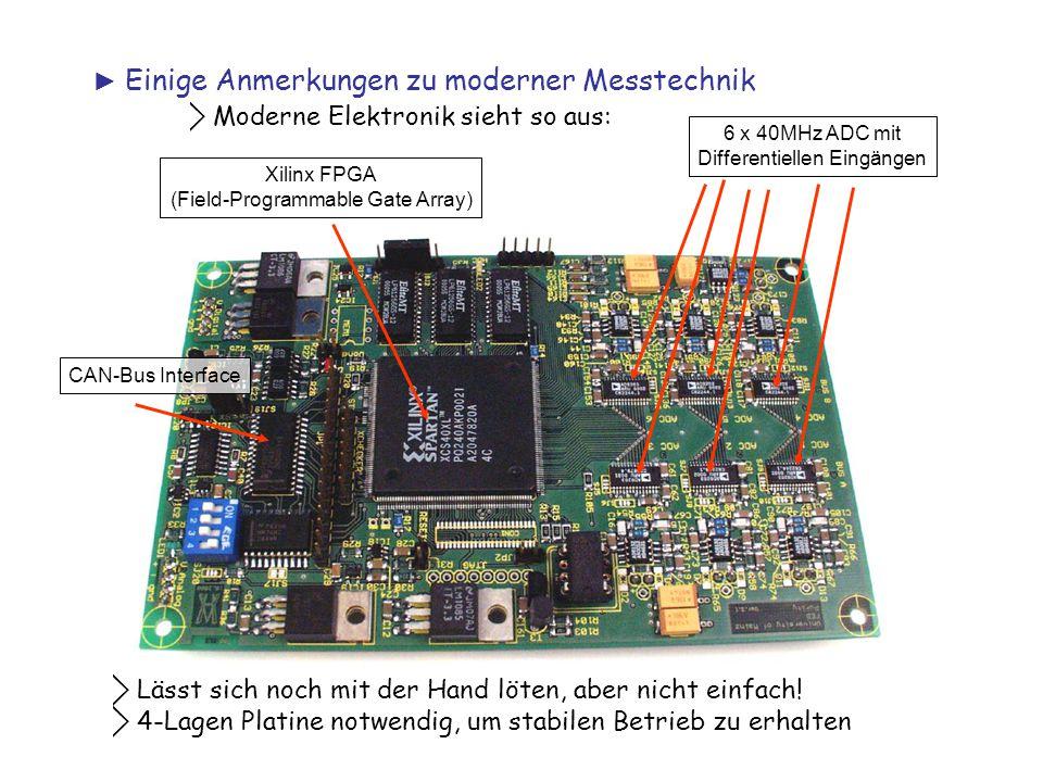 ⃟ Moderne Elektronik sieht so aus: