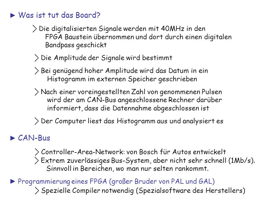 ⃟ Controller-Area-Network: von Bosch für Autos entwickelt