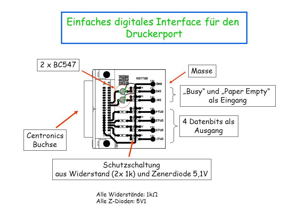 Einfaches digitales Interface für den Druckerport