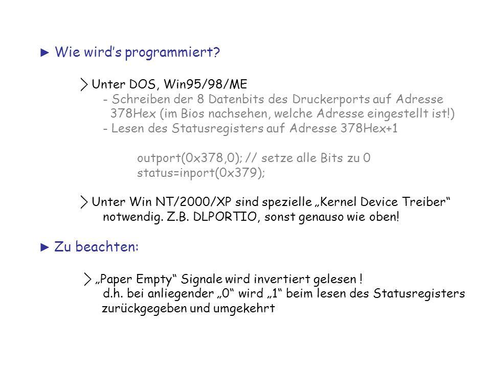 ► Wie wird's programmiert