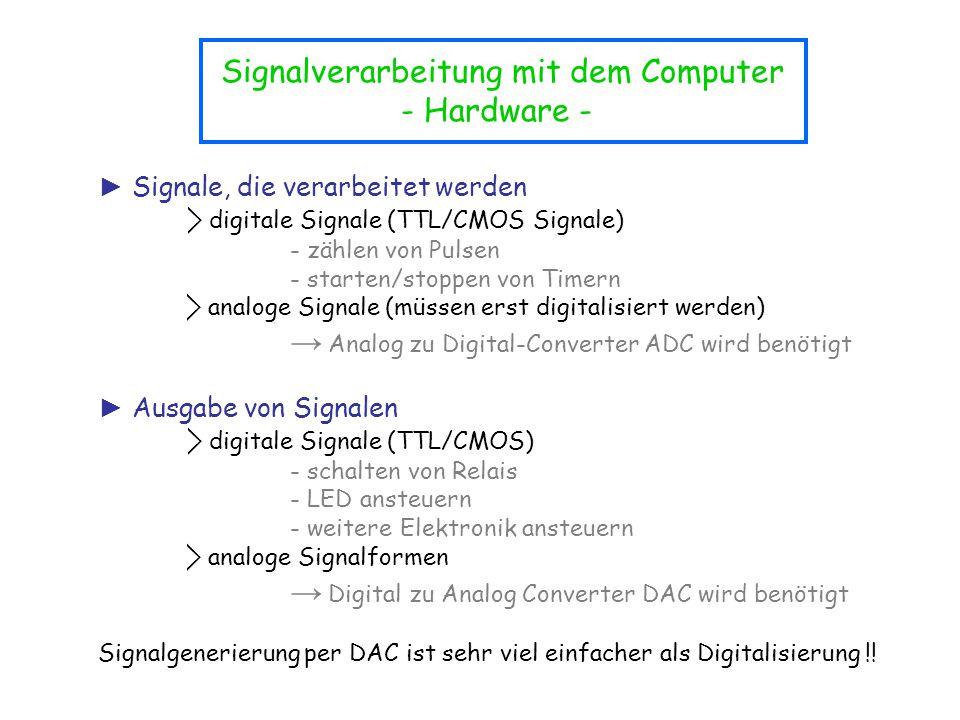 Signalverarbeitung mit dem Computer