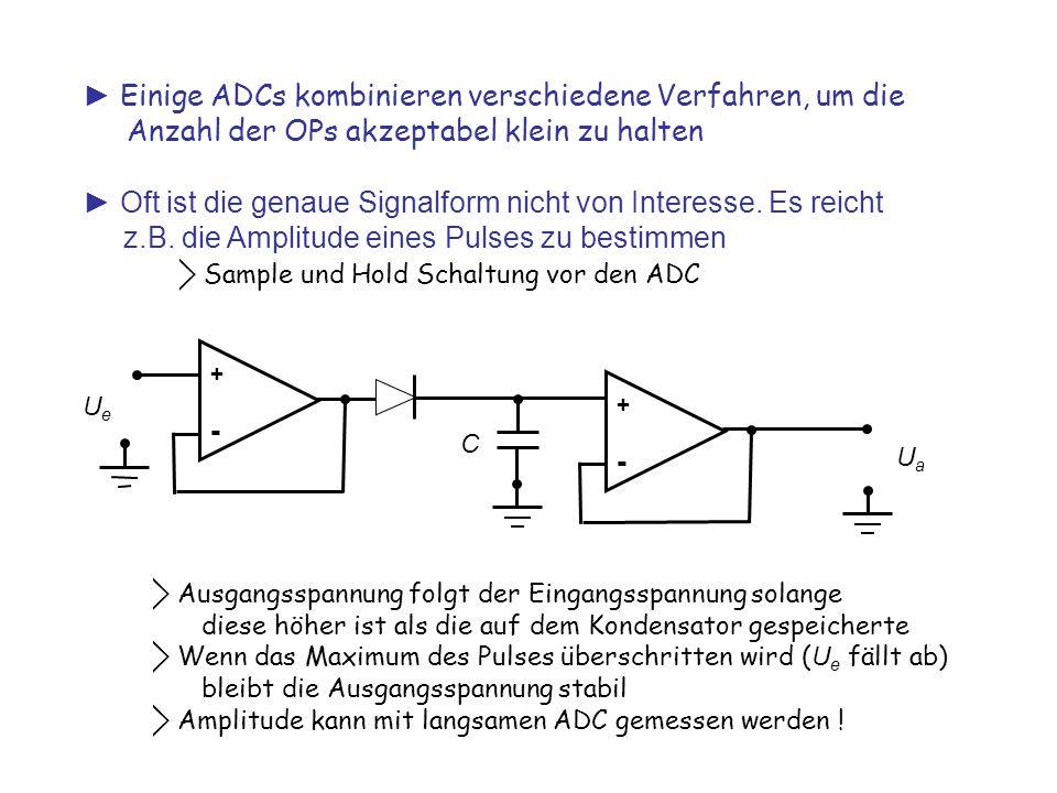 ► Einige ADCs kombinieren verschiedene Verfahren, um die