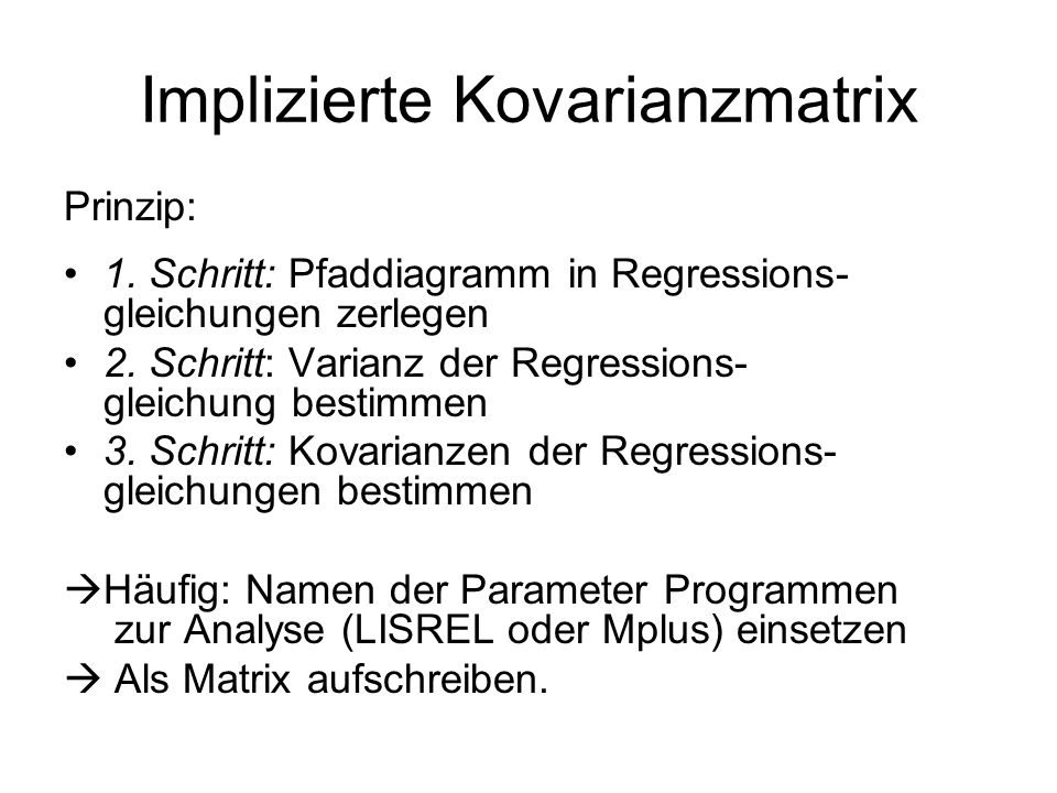 Implizierte Kovarianzmatrix
