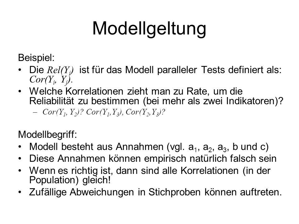Modellgeltung Beispiel: