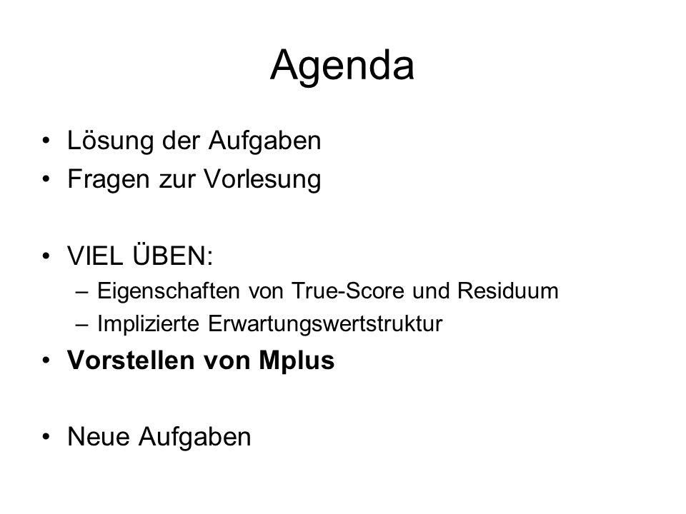 Agenda Lösung der Aufgaben Fragen zur Vorlesung VIEL ÜBEN: