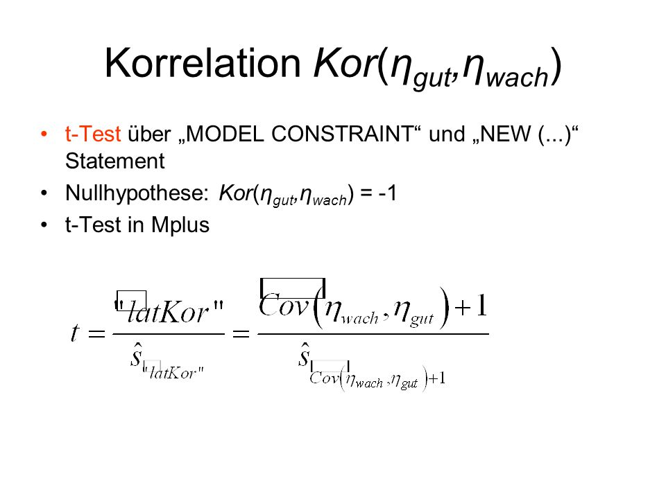 Korrelation Kor(ηgut,ηwach)