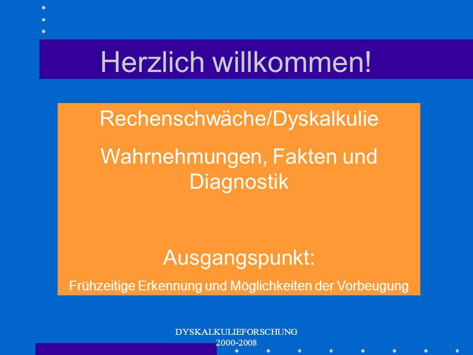 Herzlich willkommen! Rechenschwäche/Dyskalkulie