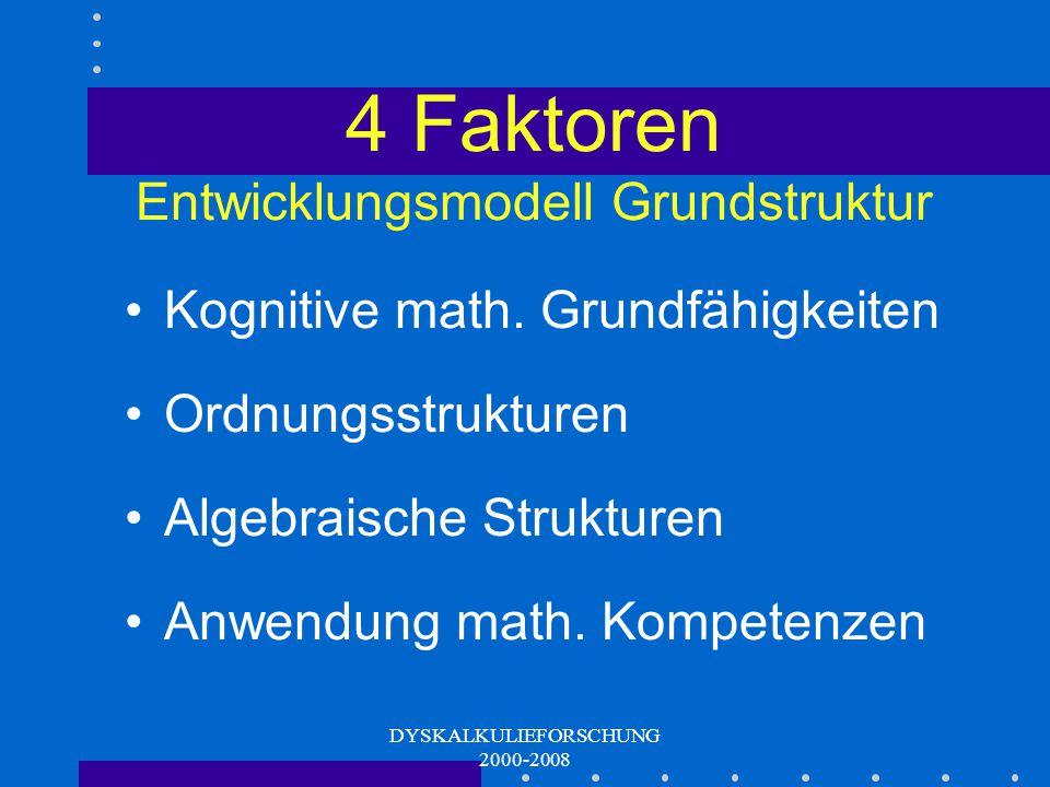 4 Faktoren Entwicklungsmodell Grundstruktur