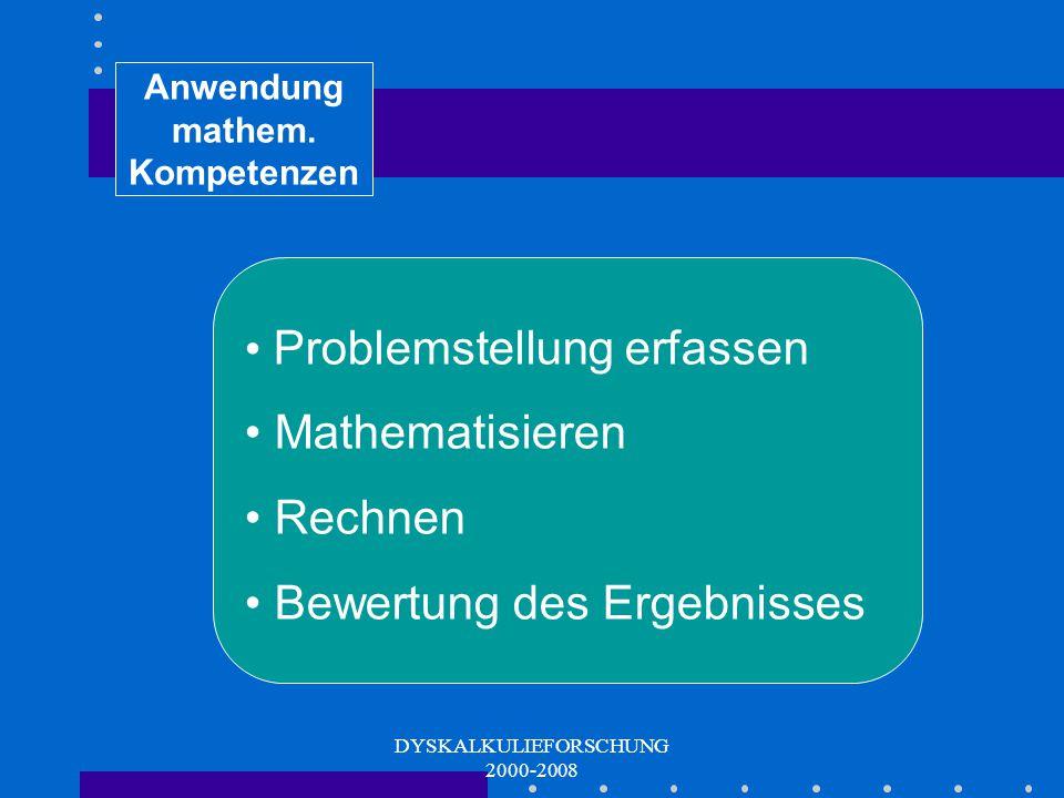 Anwendung mathem. Kompetenzen