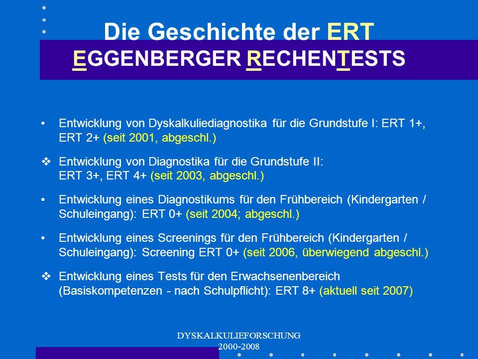 Die Geschichte der ERT EGGENBERGER RECHENTESTS