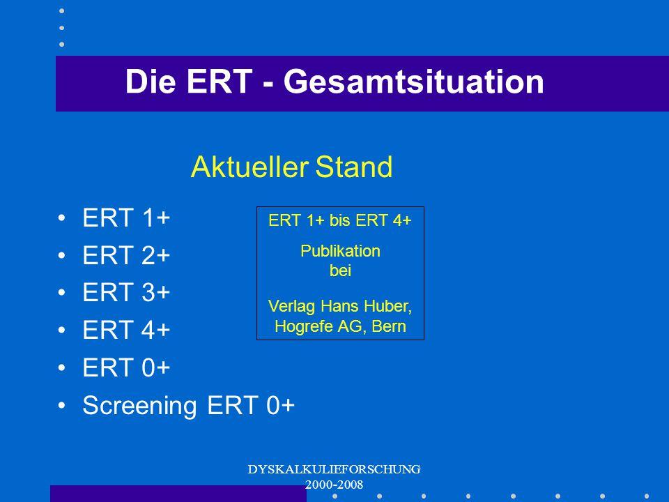 Die ERT - Gesamtsituation