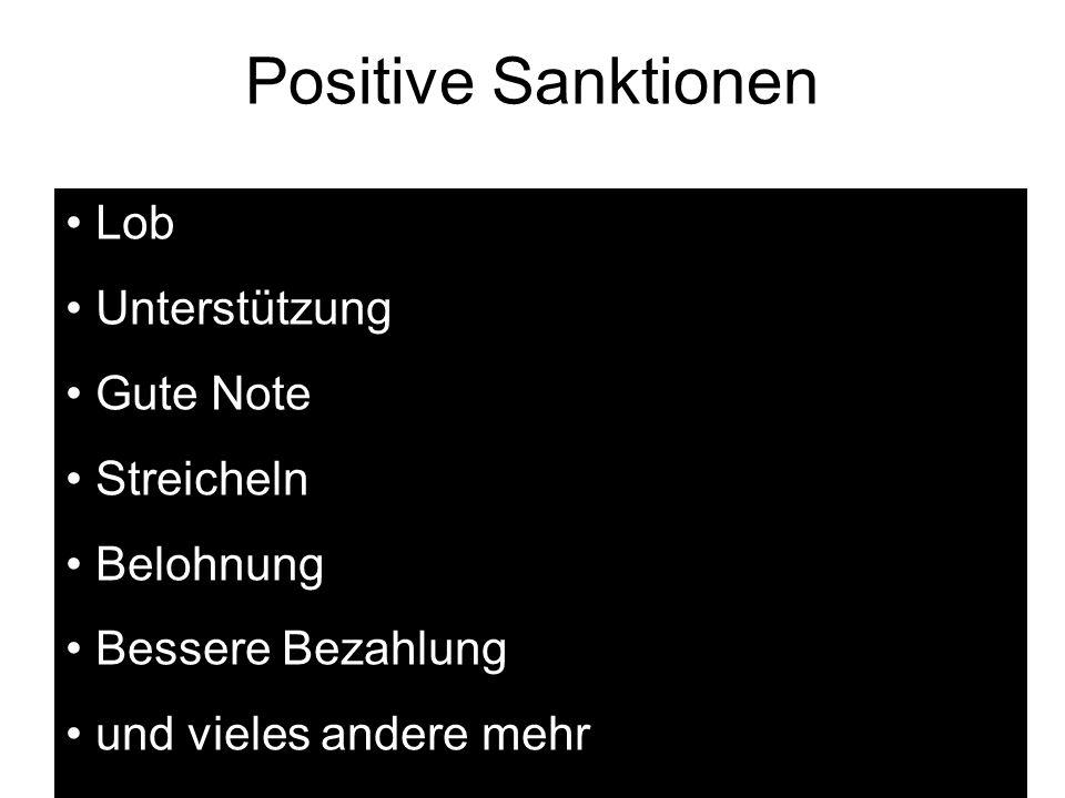 Positive Sanktionen Lob Unterstützung Gute Note Streicheln Belohnung