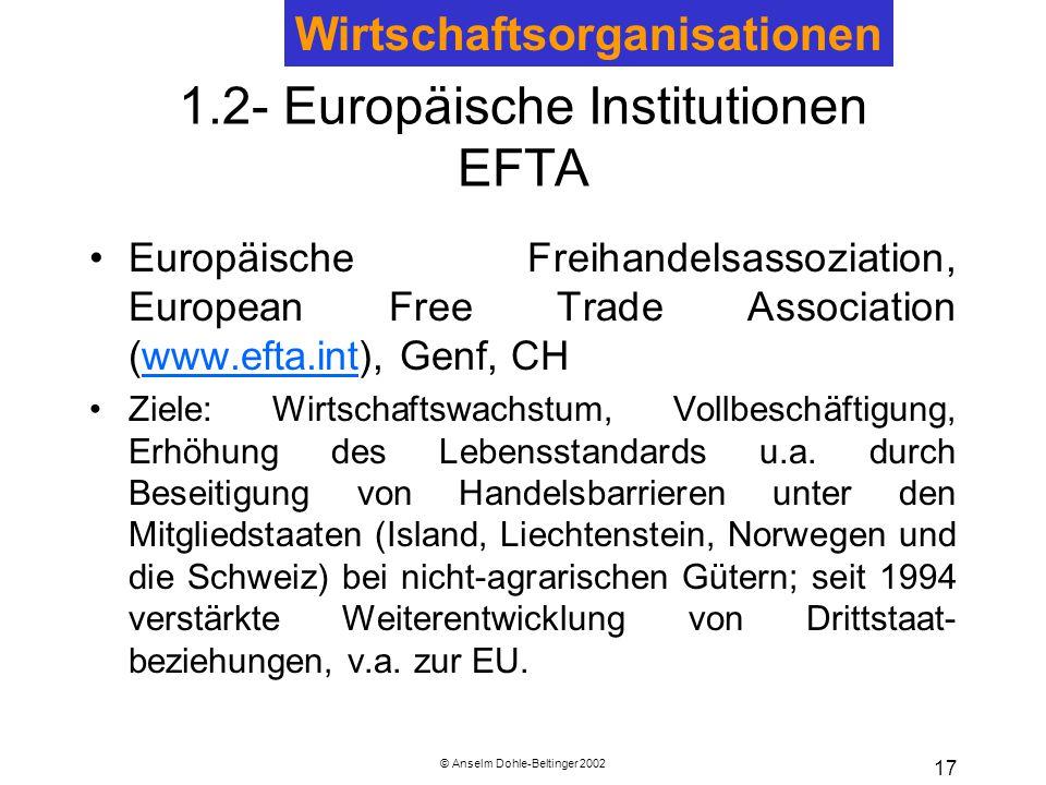 1.2- Europäische Institutionen EFTA