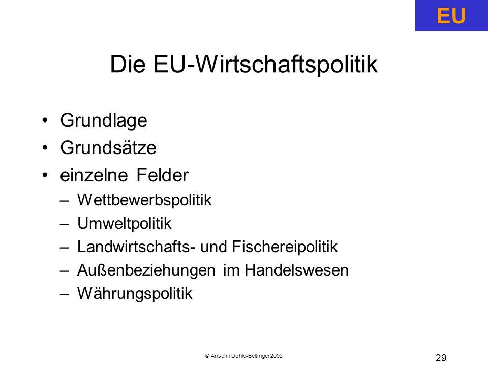 Die EU-Wirtschaftspolitik