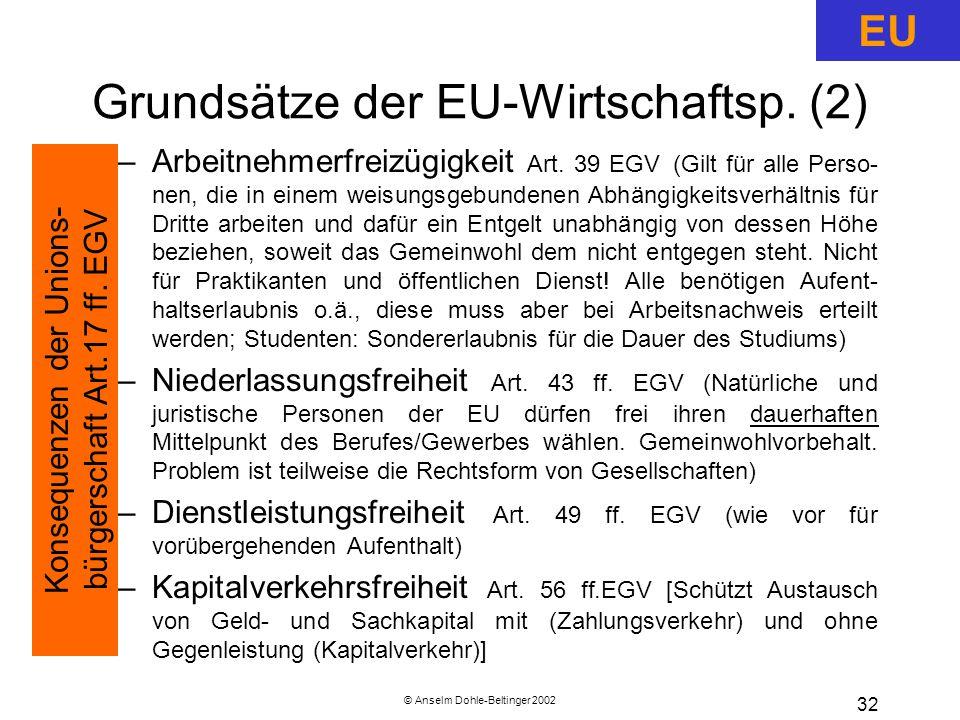 Grundsätze der EU-Wirtschaftsp. (2)