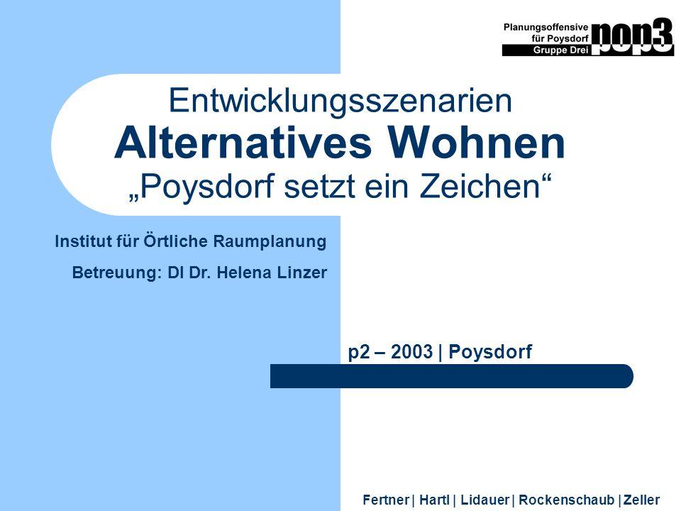 """Entwicklungsszenarien Alternatives Wohnen """"Poysdorf setzt ein Zeichen"""