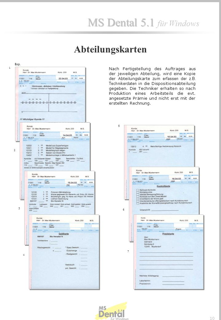 Abteilungskarten Bsp. 1.