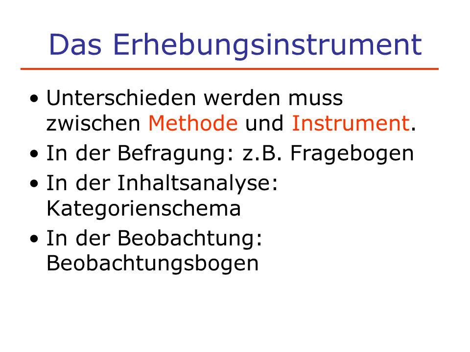 Das Erhebungsinstrument