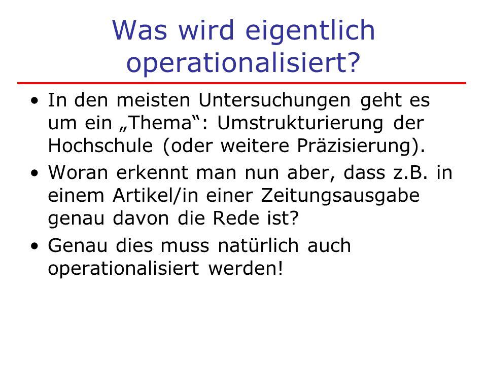 Was wird eigentlich operationalisiert