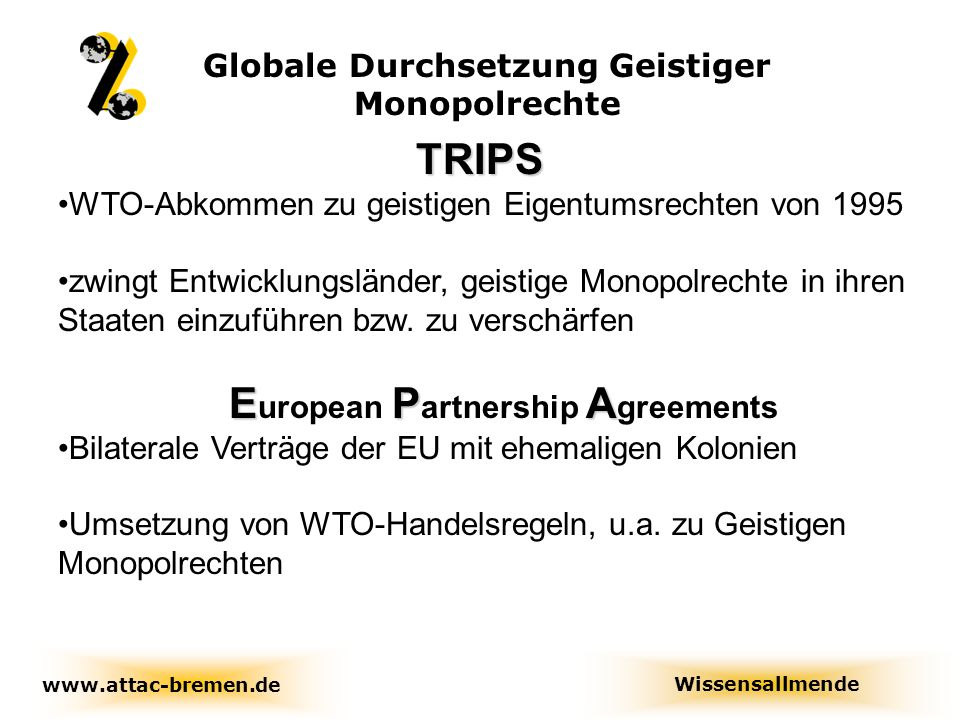 TRIPS European Partnership Agreements