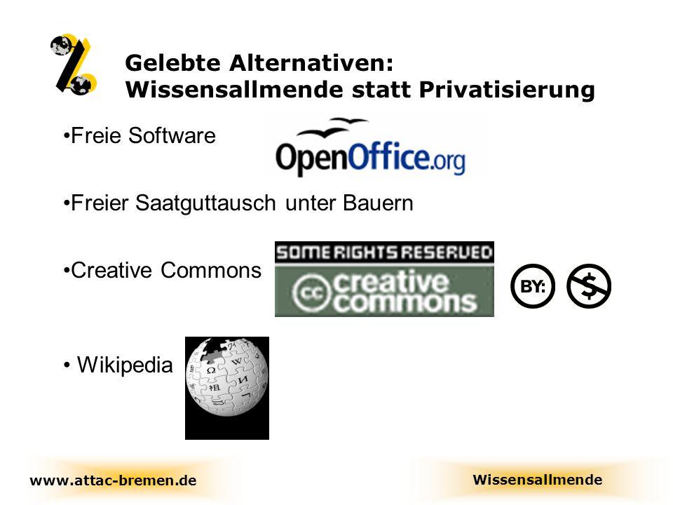 Gelebte Alternativen: Wissensallmende statt Privatisierung