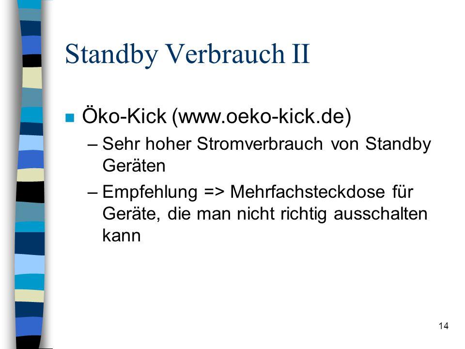 Standby Verbrauch II Öko-Kick (www.oeko-kick.de)