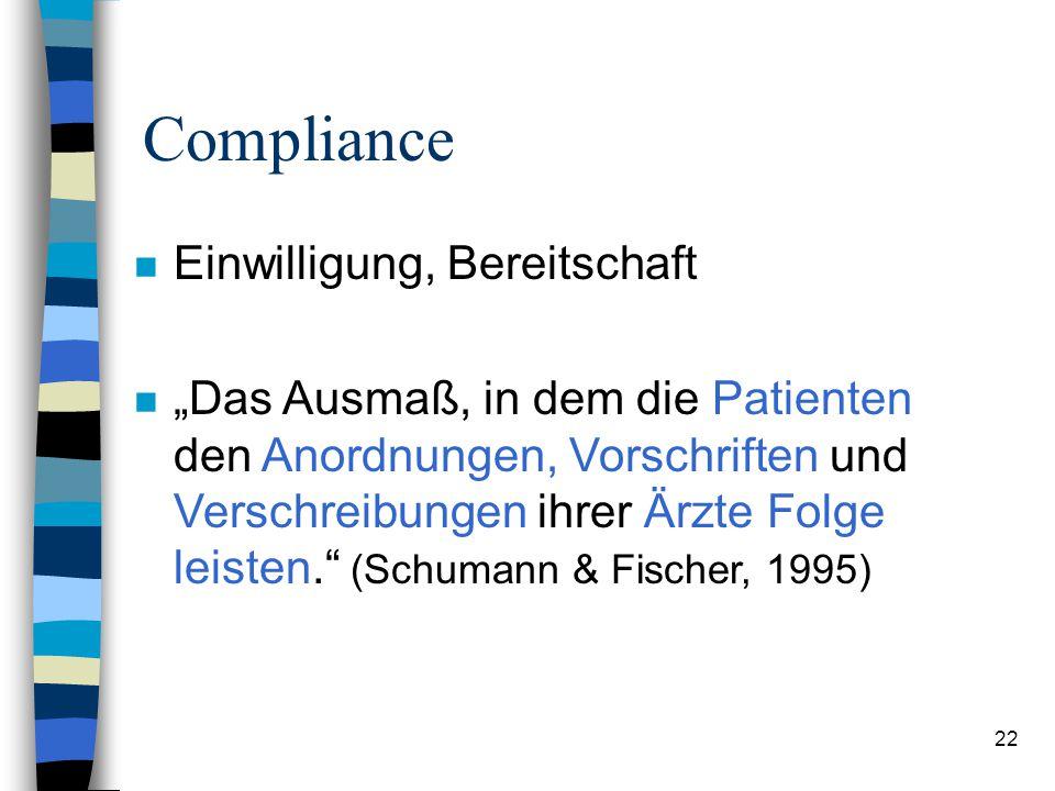 Compliance Einwilligung, Bereitschaft