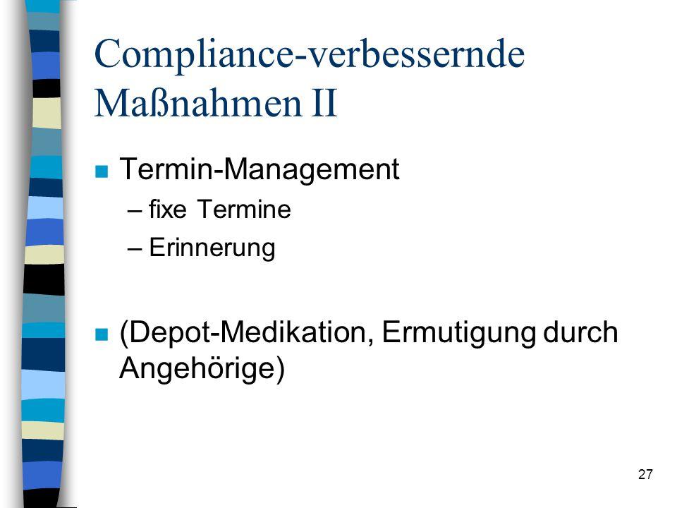 Compliance-verbessernde Maßnahmen II