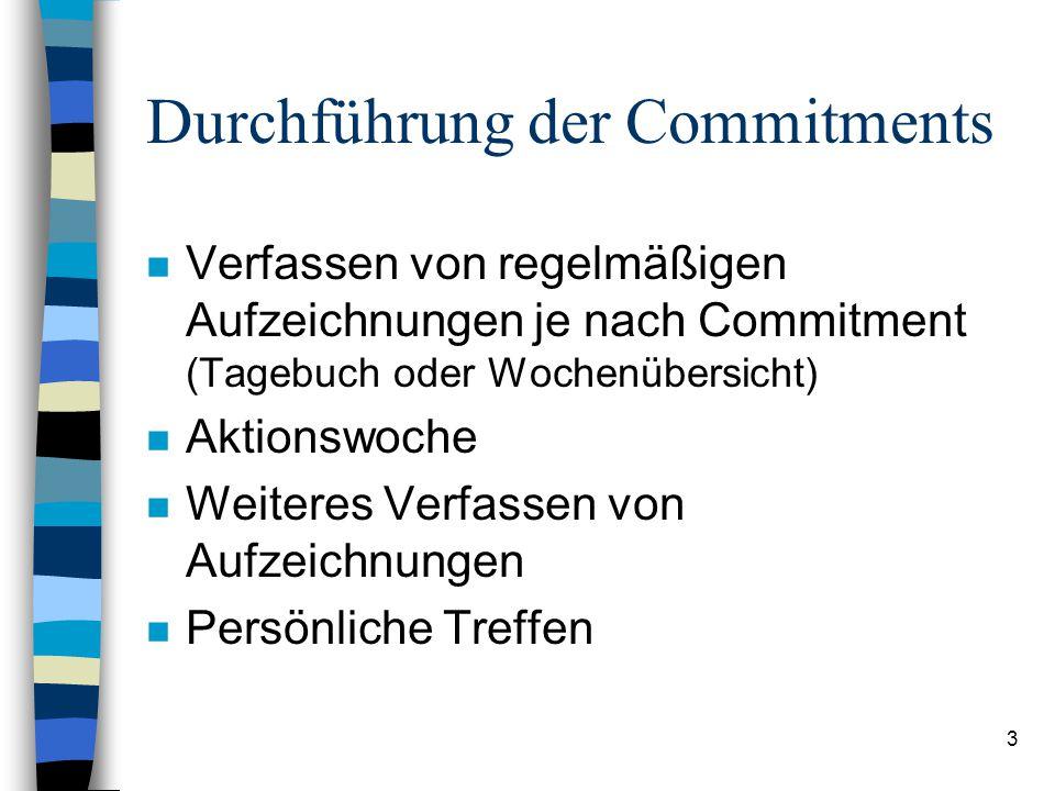Durchführung der Commitments