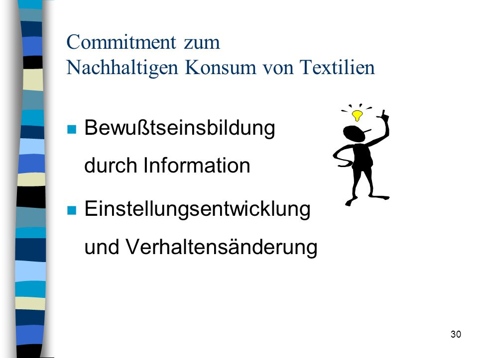 Commitment zum Nachhaltigen Konsum von Textilien