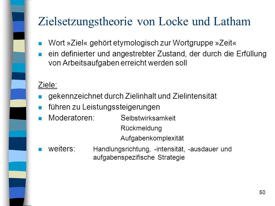 Zielsetzungstheorie von Locke und Latham