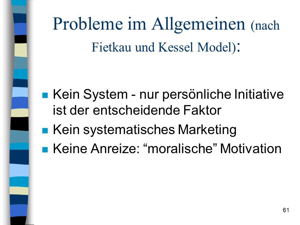 Probleme im Allgemeinen (nach Fietkau und Kessel Model):