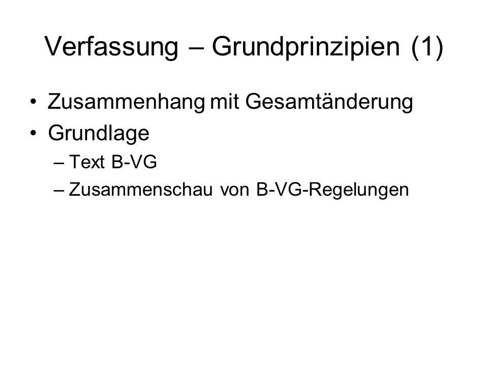 Verfassung – Grundprinzipien (1)