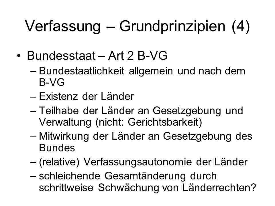 Verfassung – Grundprinzipien (4)