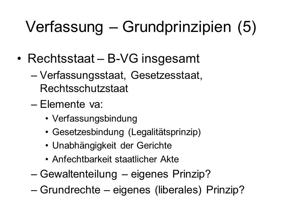 Verfassung – Grundprinzipien (5)