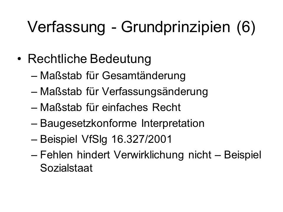 Verfassung - Grundprinzipien (6)