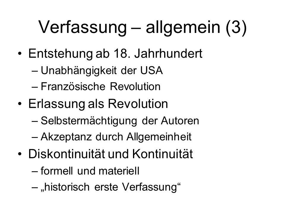 Verfassung – allgemein (3)