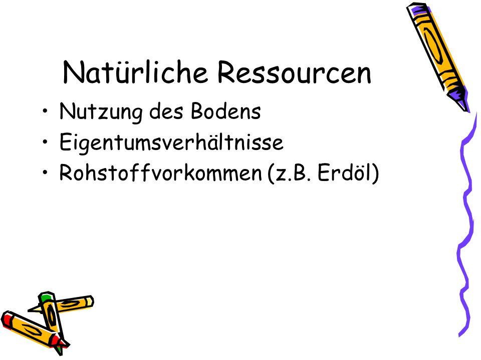 Natürliche Ressourcen
