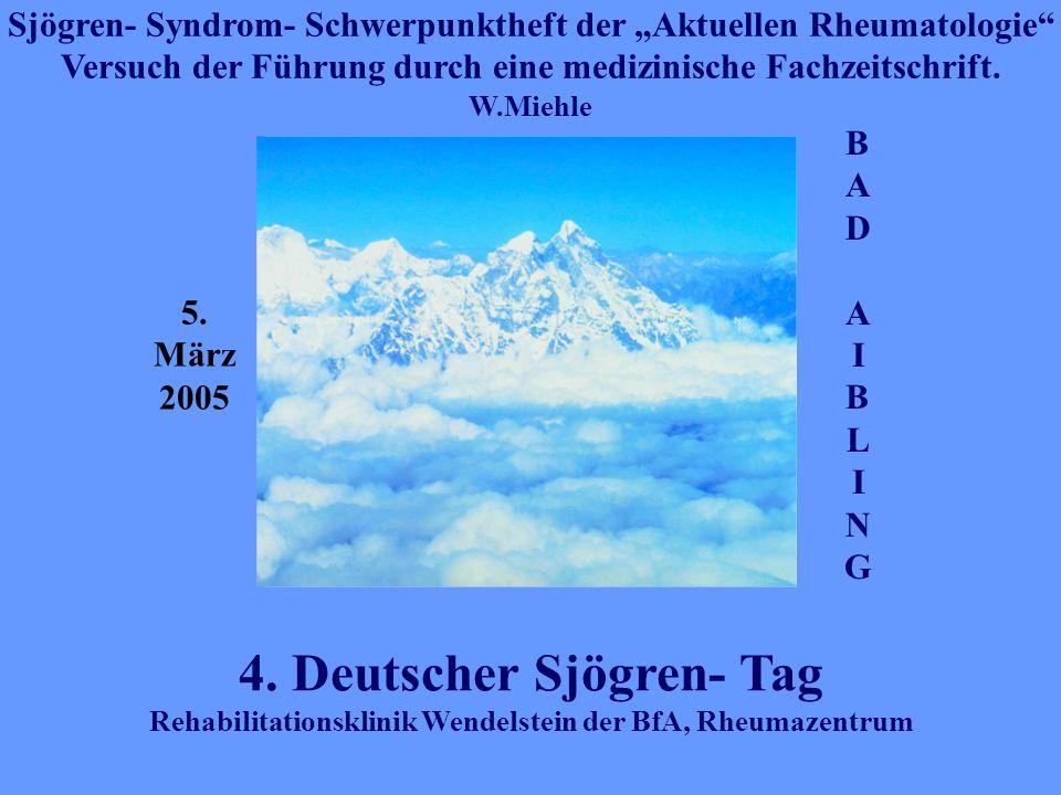 4. Deutscher Sjögren- Tag