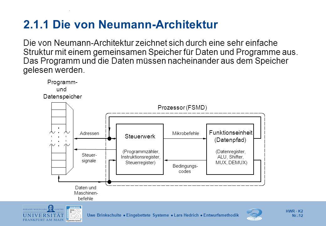 2.1.1 Die von Neumann-Architektur