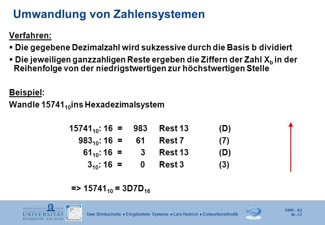 Umwandlung von Zahlensystemen