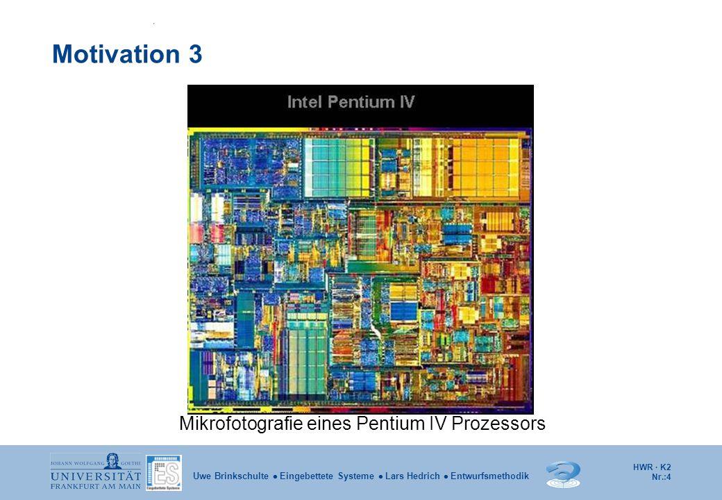 Mikrofotografie eines Pentium IV Prozessors