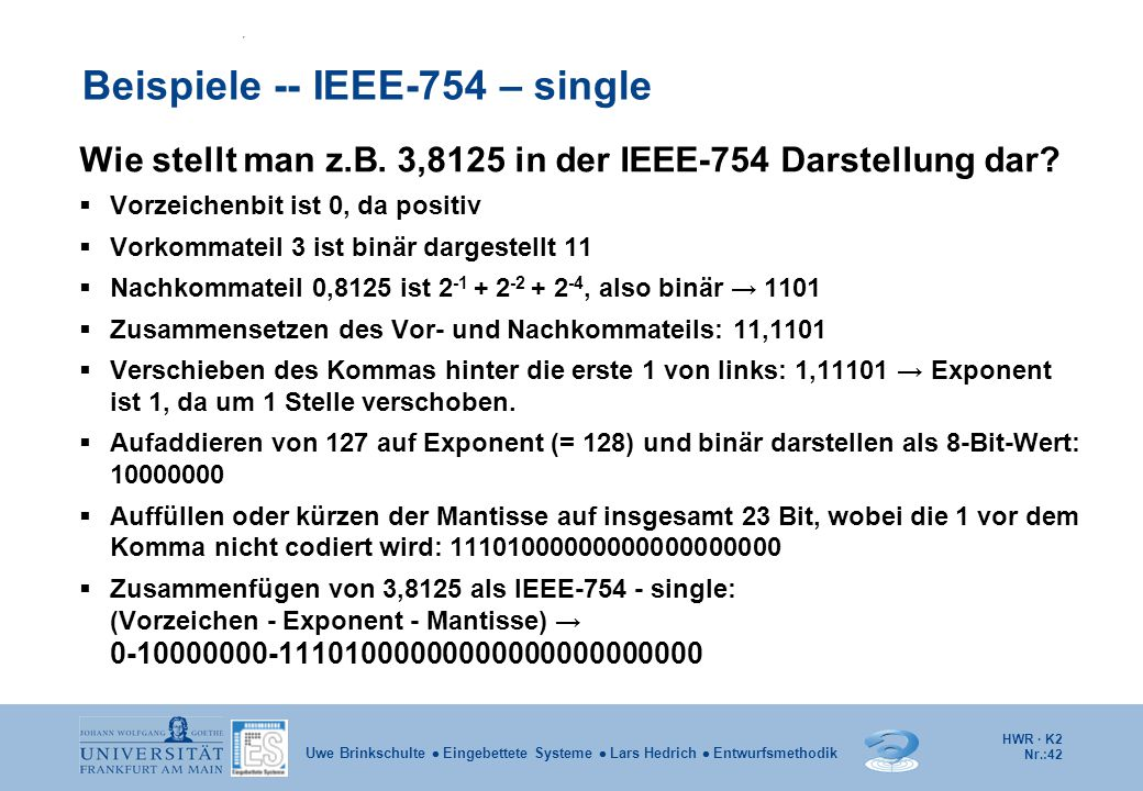 Beispiele -- IEEE-754 – single