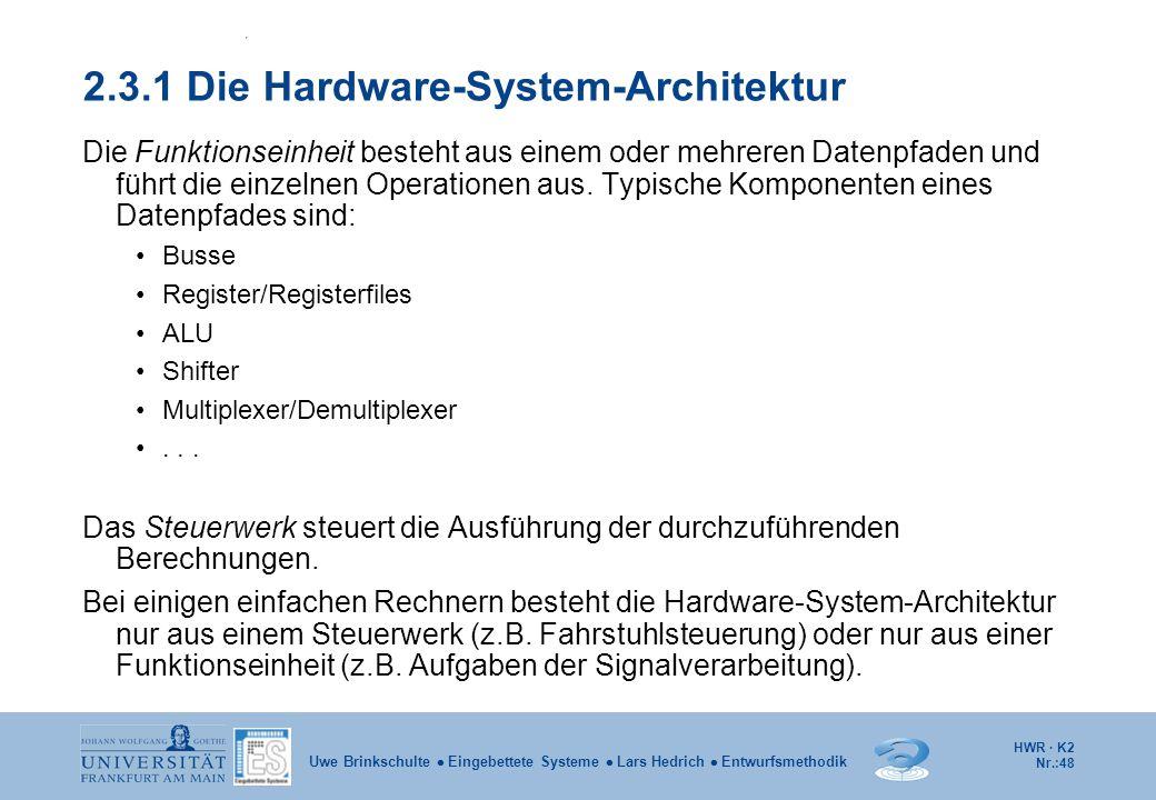 2.3.1 Die Hardware-System-Architektur
